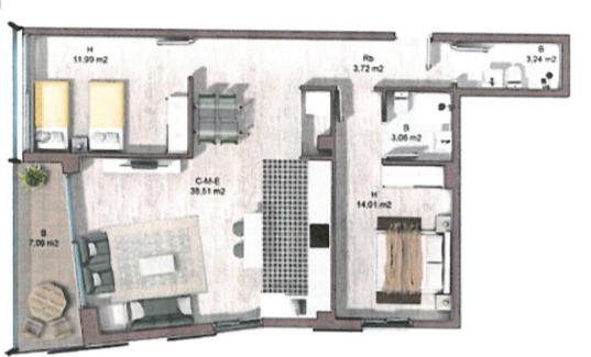 Inmobiliaria Vilanova i la Geltrú_Promoción obra nuevapiso 1º3ª con ref. 22v464 de precio 225.750€